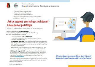 Bezpłatne szkolenia: Jak rozwinąć swój biznes zagranicą – zmałą pomocą odGoogle. Zapisz się nakonsultacje